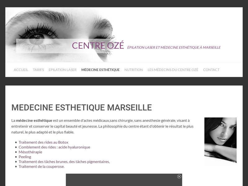 centre laser à marseille, épilations définitive, peeling, injection d'acide hyaluronique et botox 13008